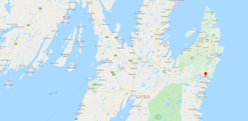 Land for Sale on South Side Road in Bay Bulls, NL.