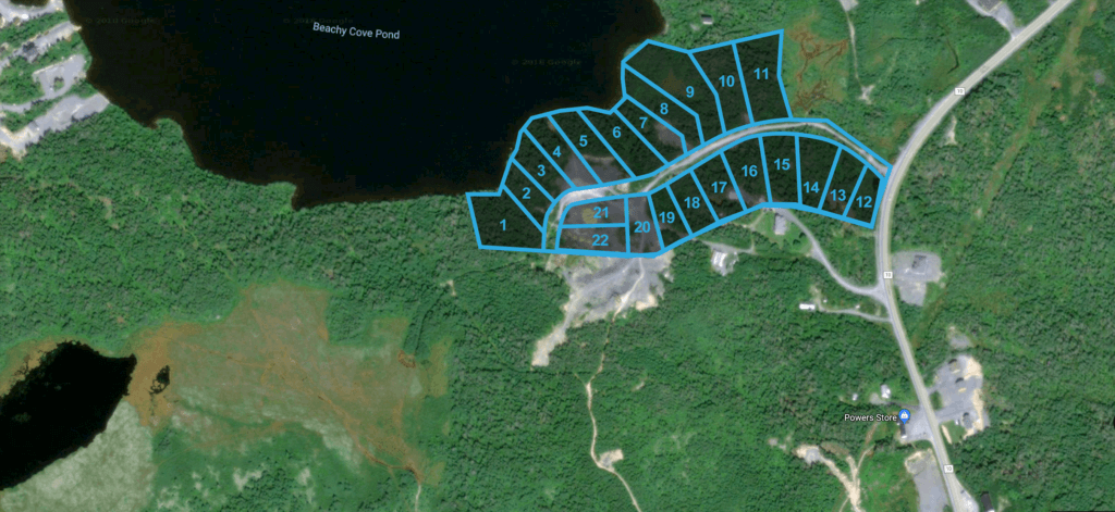 Land for sale near Beach Cove Pond in Tors Cove, NL.