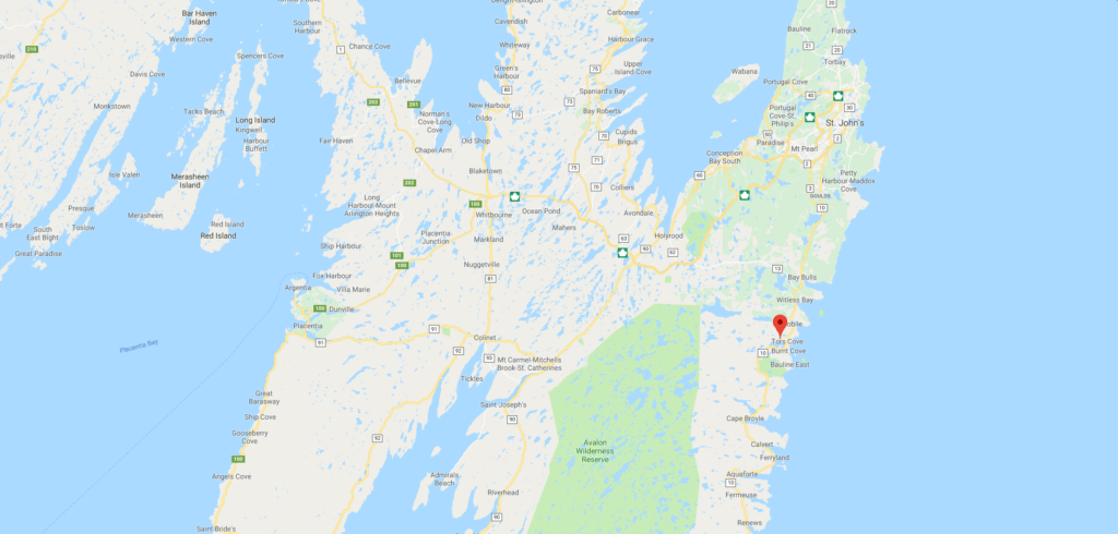 Land for sale in Tors Cove, Newfoundland.